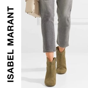 ISABEL MARANT Dicker suede ankle boots in brown